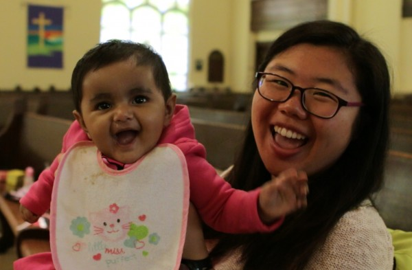 Mandy Zheng and toddler