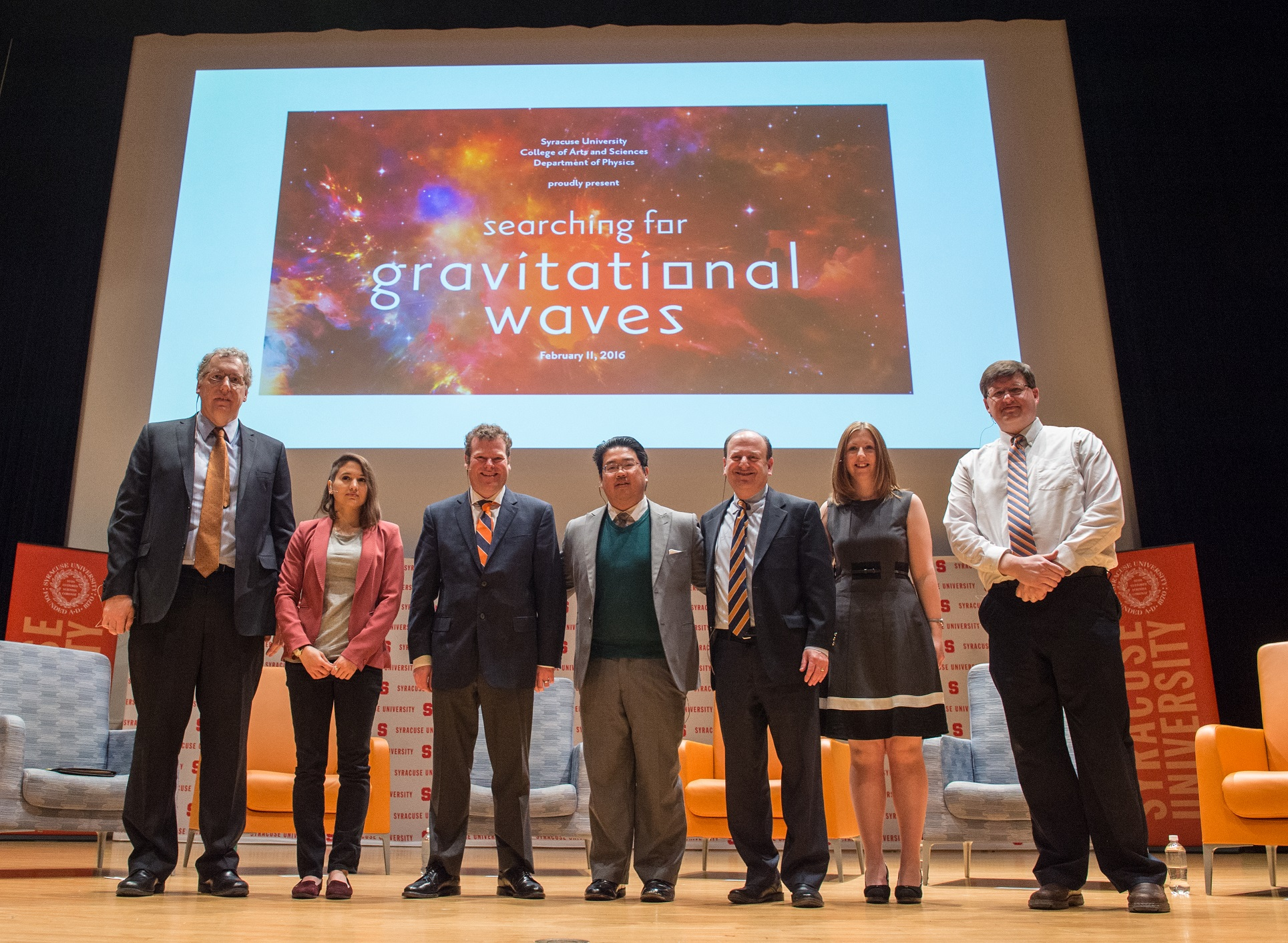 Searching for Gravitational Waves Physics A&S Arts and Sciences Press Conference 2016