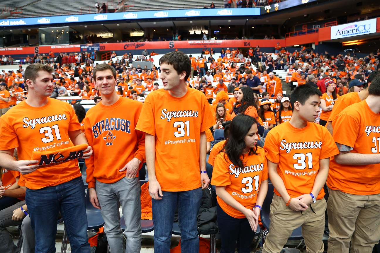 syracuse university men's basketball rallies around one of its own