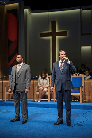 "Larry Powell and Andrew Garman in ""The Christians"" at Actors Theatre of Louisville"