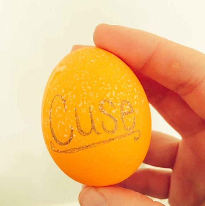 Orange egg