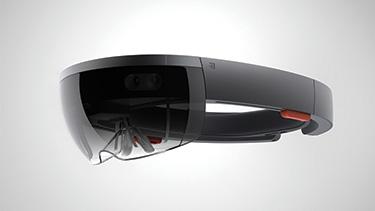 A Microsoft HoloLens headset