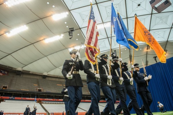 Army and Air Force ROTC in the Carrier Dome