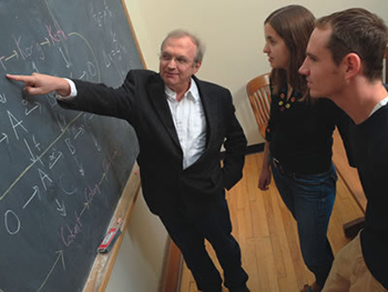 Tadeusz Iwaniec working with students