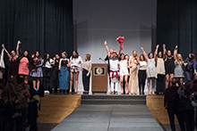 Designers and models at the end of last year's fashion show