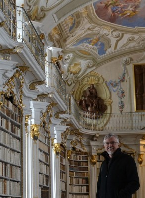 Jim Watts in Admont Stift library Austria
