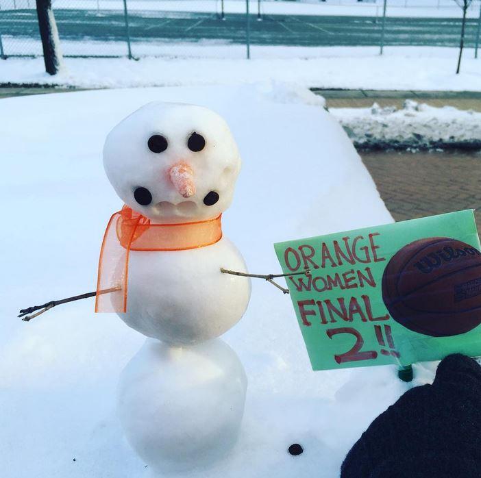 Orange snowman