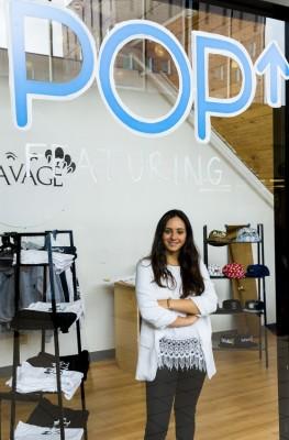 Julia Haber at pop up shop