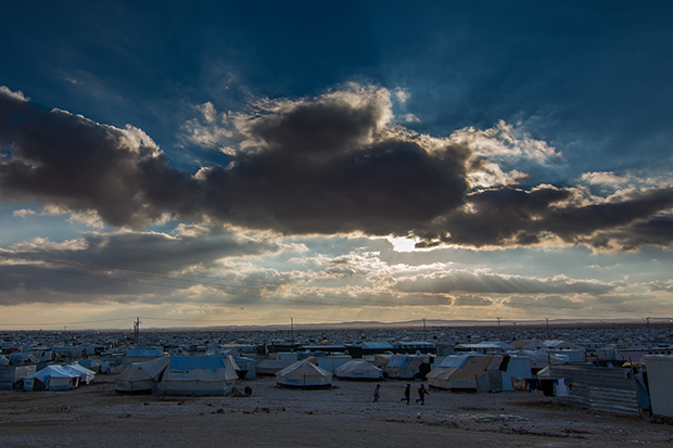 The Za'atari refugee camp