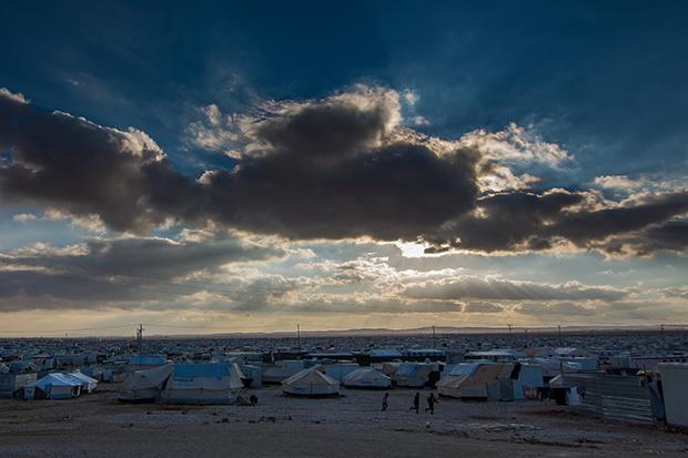 The Za'atari refugee camp