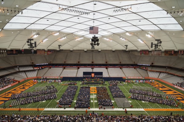 Commencement 2016 Ceremony Birds Nest Crows Roof