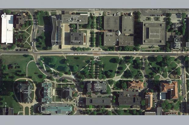Promenade, aerial view