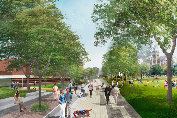 Promenade, east view, proposed