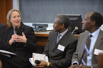 Onondaga County Executive Joanne Mahoney speaks at a previous Africa Business Conference.