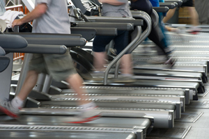 exercising on treadmills