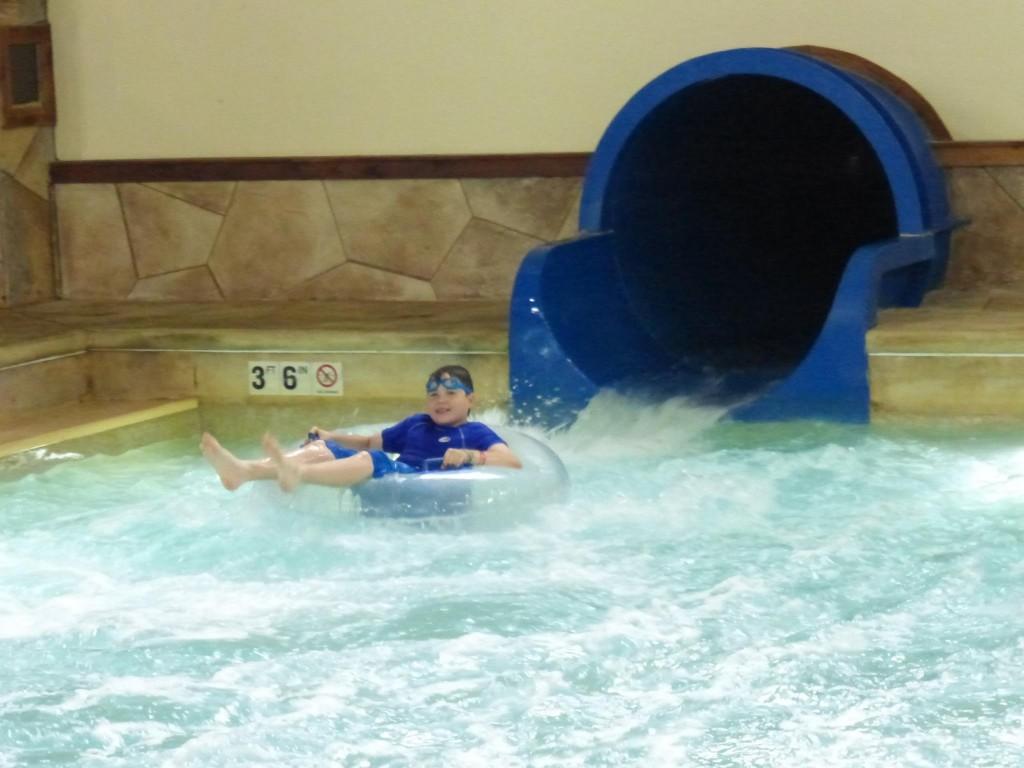 boy in water pool