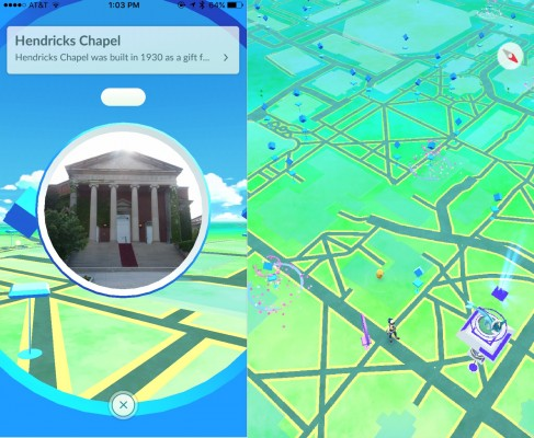 Pokémon Go players follow a map to track down characters to capture.