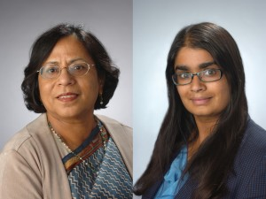 Shobha Bhatia, left, and Sucheta Soundarajan
