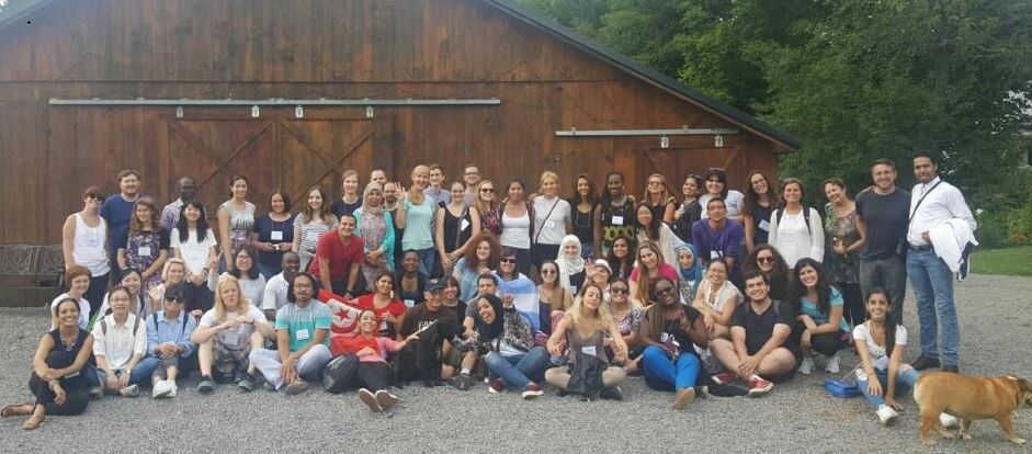 All 52 of this year's cohort of Fullbright Foreign Language Teaching Assistants visited the Golub Farm in Cazenovia, NY.