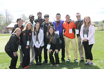 Graduate students from Falk College put together a golf tournament to benefit Vera House's