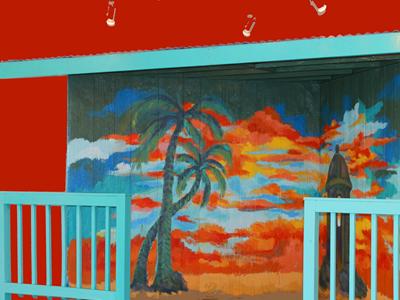 """The new """"Balcón Criollo"""" mural, by Juan Cruz '96."""