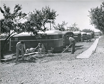 Temporary housing for veterans and their families after World War II.