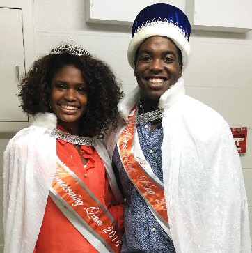 Queen Miracle Rogers, left, and King Bilal Vaughn