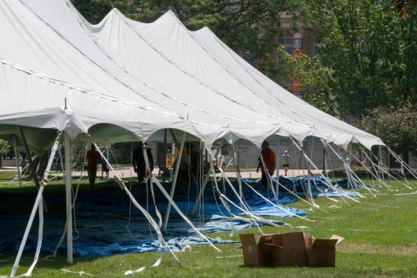 Tents on Quad