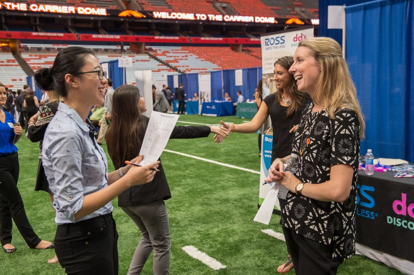 Career Week Fair at Dome WSOM Whitman School of Management 2016