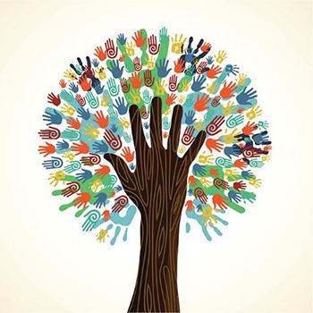 Tree-hand logo