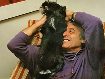 Cuperman with his dog, Oliveira