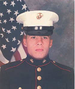 Daniel MacDonald as a U.S. Marine
