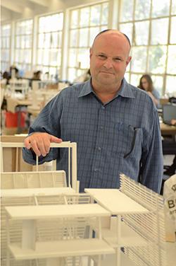 Roger Sherman in his studio