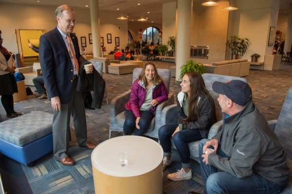 Family Weekend 2016 Hospitality Suite Chancellor Kent Syverud