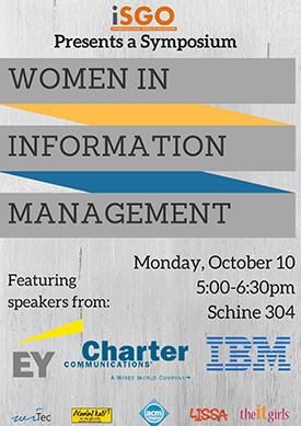 Women in Information Management flyer