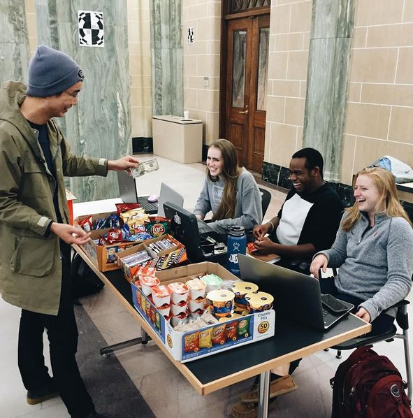 The Architecture Student Organization hosts the Midnight Market at Slocum Hall.