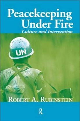 """Peacekeeping Under Fire"" book cover"