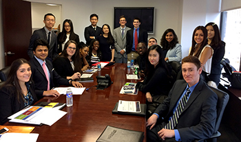 Financial and Investor Communications Emphasis students while on their benchmark trip to New York