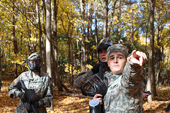 Adam Westervelt during an ROTC exercise