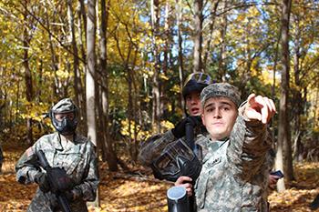 Adam Westervelt during an ROTC exercise