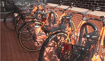 The establishment of a bike sharing program on campus this fall is a recent example of a new sustainability program