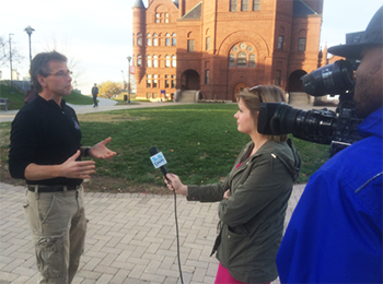 Sam Sampere is interviewed by CNY Central about the recent Supermoon.