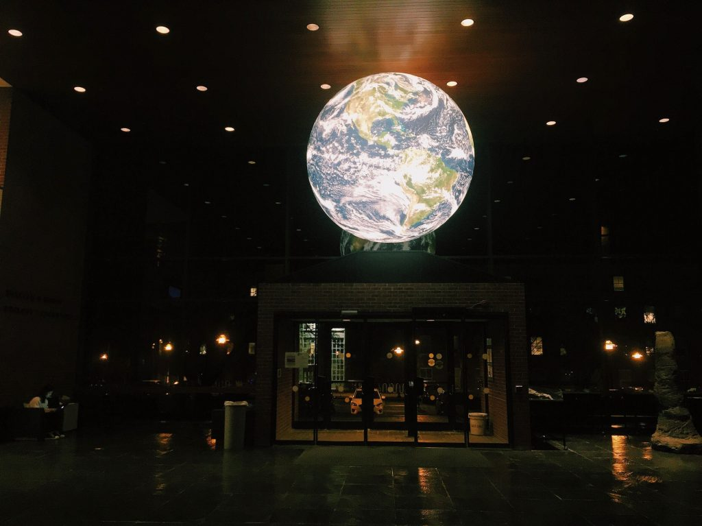 globe on ceiling