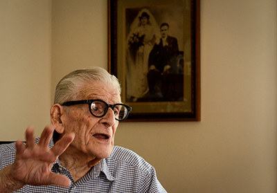 Cisternino, 95, talks about the long-ago incident about which he still thinks often.