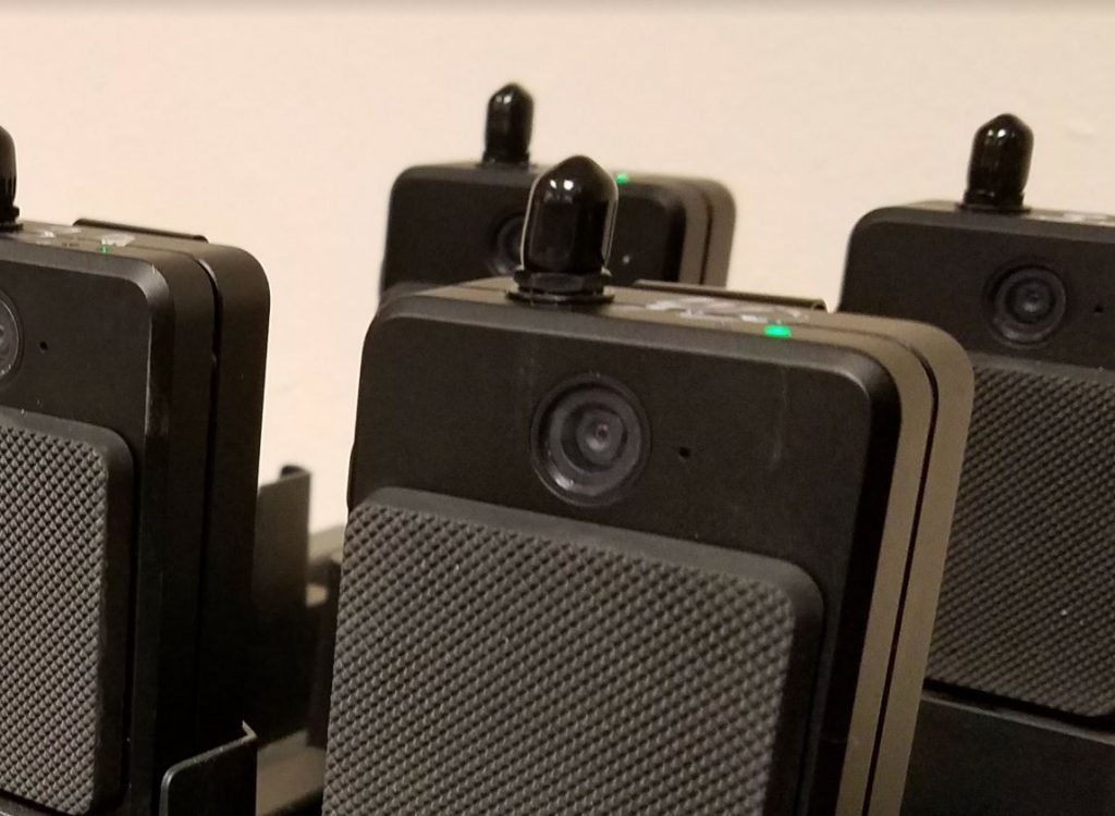Body Worn Camera's are kept in docking stations to charge.