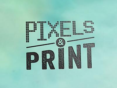Pixels & Print logo