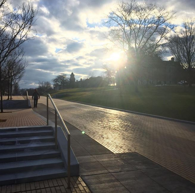 sunlight over campus