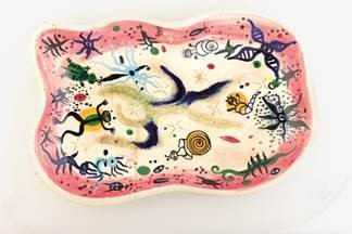 Julio de Diego, River Patterns (platter), 1950. private collection