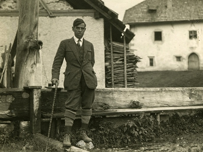 Italian writer and literary critic Giuseppe Antonio Borgese.