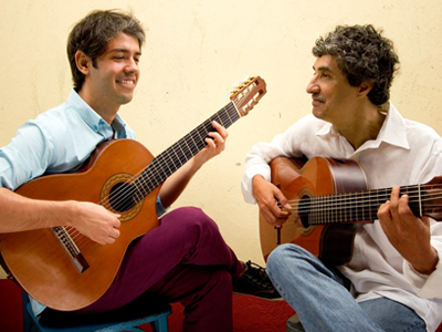 Guitarist Rogério Souza and Edinho Gerber